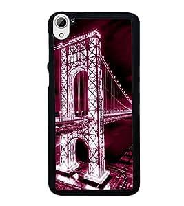 printtech Bridge Foreign Lights Back Case Cover for HTC Desire 826 Dual