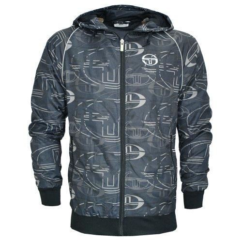 Sergio Tacchini Logo Print Windrunner Hooded Jacket Mens Size M