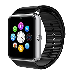 Smart Watch, Otium® One Bluetooth Smart Watch with SIM Card Slot and NFC for IOS iPhone, Android Samsung HTC Sony LG Smartphones Silver-Black