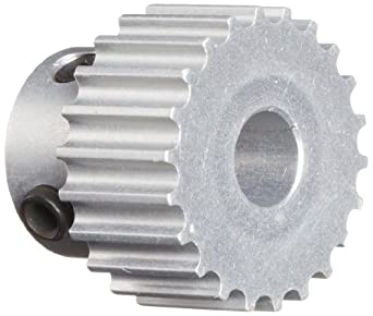 """Boston Gear PA3040DF060 Timing Pulley for 6mm Wide Belts, 40 Groves, 0.250"""" Bore Diameter, 1.474"""" Outside Diameter, 0.719"""" Overall Length,  Aluminum"""