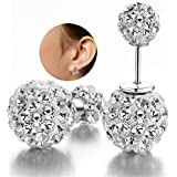 Pomelo Luxury Hot Sale Double Sided Crystal Pearl Beads Earrings Ear Studs Tribal Earrings