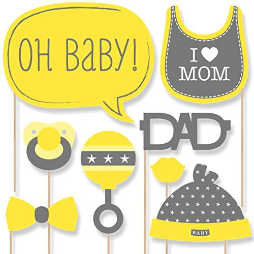 Baby Neutral - Baby Shower Photo Booth Props Kit - 20 Count (Photo Booth Props Baby Shower compare prices)