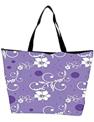 Snoogg Seamless Floral Pattern Abstract Background Waterproof Bag Made Of High Strength Nylon - B01I1KJWNQ