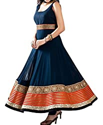 Krishna ECommerce Women's Salwar Suit Dress Material. (SunnyBlue)