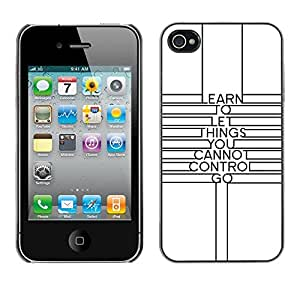 Omega Covers - Snap on Hard Back Case Cover Shell FOR Apple iPhone 4 / 4S - Quote Minimalist Lines Motivational