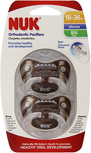 """""""Nuk Orthodontic Sports Pacifiers- 18-36M (Size 3)- Asst Themes Pack Of 2 front-913716"""