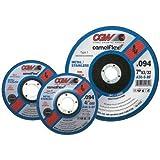"CGW Abrasives 421-45020 Aluminum Oxide Type 27 Depressed Center Cutoff Wheel, 4 1/2"", 3/32"", 36 Grit, 7/8"", 13300 rpm, White (Pack of 25)"