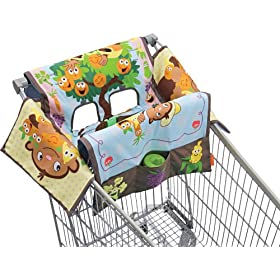 Infantino Shop and Play Cart Cover, Monkey Garden