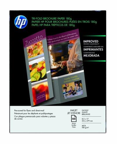 Hp tri fold brochure paper glossy 100 sheets 8 5 x 11 for Hp tri fold brochure template