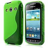 Schutzhülle für Samsung Galaxy Xcover 2 S7710 - S-line TPU Silikon in Grün von PrimaCase