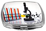 Rikki Knight Compact Mirror, Laboratory Equipment With Test Tubes