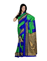 Anu Designer Self Print Saree (6404A_Multi-Coloured)