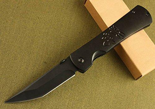 Serrated Tactical Survival Rescue Black Pocket Folding Knife-7.95''