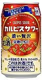 「カルピスサワー」 期間限定 濃い贅沢 完熟いちご 缶 350ml×24本