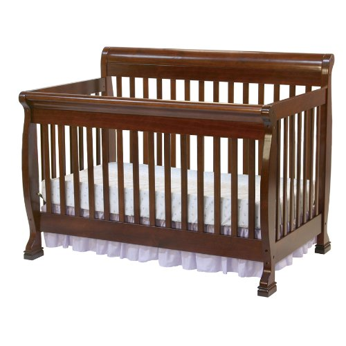 DaVinci Kalani 4-in-1 Convertible Crib with Toddler Rail, Cherry