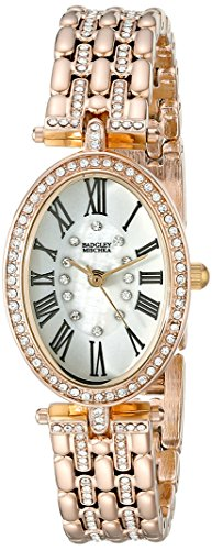 badgley-mischka-womens-ba-1356wmgb-swarovski-crystal-accented-gold-tone-bracelet-watch