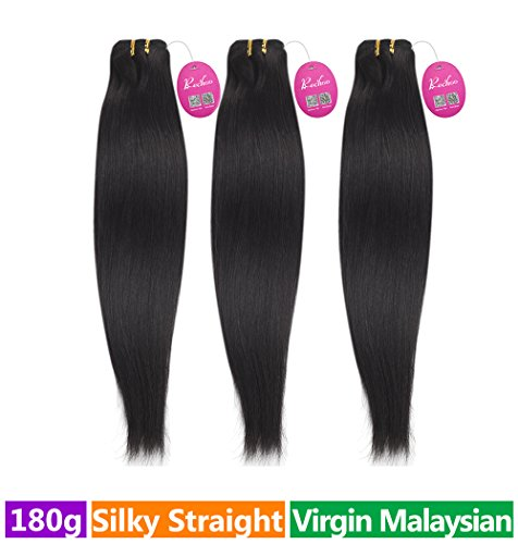 Rechoo-Malaysian-Virgin-Hair-3-Bundle-Deals-180g-Natural-BlackSilky-Straight