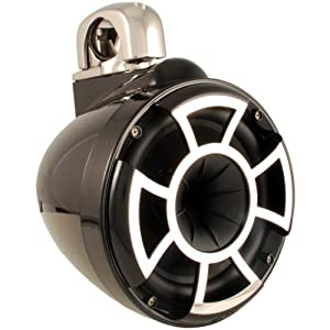 Wet Sounds Revolution Series 8 inch EFG HLCD Tower Speakers - Black w/ Fixed Clamp from Wet Sounds Inc
