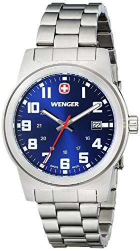 Wenger Men's 72808 Analog Display Swiss Quartz Silver Watch
