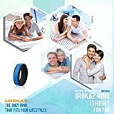 UROKAZ-Silicone-Wedding-Ring-The-Only-Ring-that-Fits-Your-Lifestyle-Whether-You-are-Single-or-Married-UROKAZ-Ring-is-Right-for-You-It-is-Fashionable-Flexible-and-Comfortable