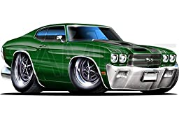 Chevelle SS 1970 Green 48 inch Wall Skin Graphic