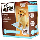Super-Absorbent Polymer PUPPY PADS - Dog Wee Wee Housebreaking Disposable Training Pads, by Pet Supply City - 100 Count