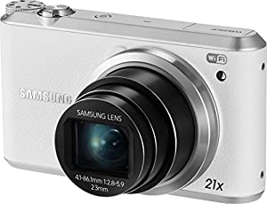 Samsung WB350F - 16.3MP BSI CMOS, 21X Optical Zoom, 3-inch LCD touchscreen, 1080p HD Video, Smart WiFi and NFC Digital Camera - White (Certified Refurbished)