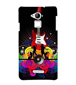 printtech Abstract Guitar Music Back Case Cover for Coolpad Note 3 Lite Dual SIM with dual-SIM card slots