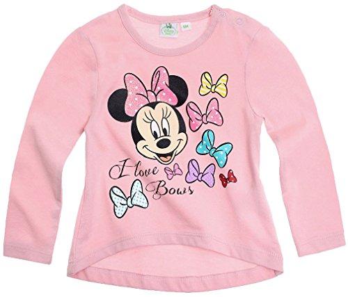 Tee-Shirt-asimtrico-de-manga-larga-beb-nia-Minnie-rosa-de-3-a-24-Meses-rosa-rosa-Talla12-meses