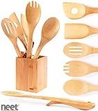 Neet® Organic Bamboo Elevated Cooking & Serving Utensils 6 Piece Set BMB-SU6
