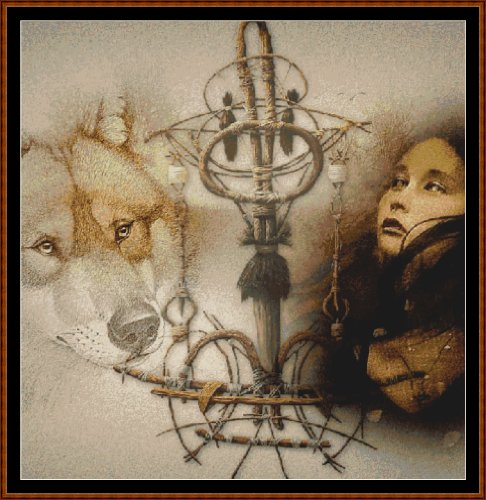 Cross Stitch Chart / Pattern (Stickvorlage / Muster) - BOUND TO THE WOLF [ PDF on a CD ] (PDF auf einer CD)