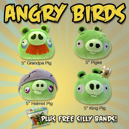 Set of 4 Angry Birds PIGS 5\