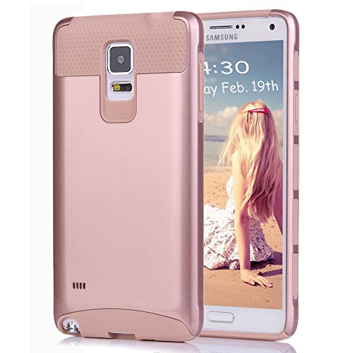 Note 4 Case,Eraglow Galaxy Note 4 Protective Case Shockproof Heavy Duty Hybrid Armor Protection Defender Case High Impact Case for Samsung Galaxy Note 4 (rose gold) (Note 4 Protective Phone Case compare prices)