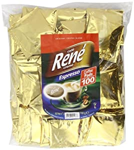 Order Café Rene Crème Espresso Coffee Pads (Pack of 1, Total 100 Coffee Pads) from GroceryCentre