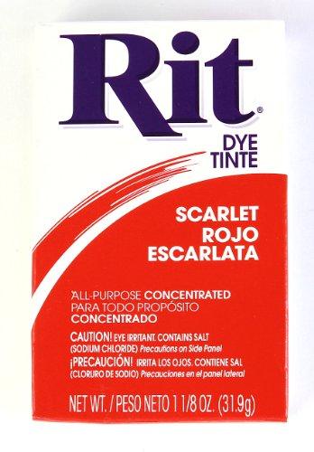 Rit Dye Powder Dye, 1-1/8 Oz, Scarlet Red, 72-Pack