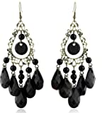 Demarkt Fashion Stylish Bohemian Fresh Platinum Plated Black Pearl Like Water Drops Ear Stud Hollow PEARL TAHITI Drip Earrings Unique Design