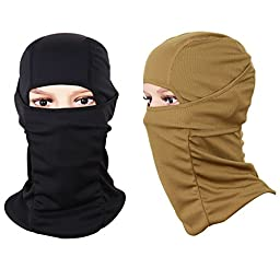 The Friendly Swede Face Mask Sports Balaclava (2 Pack) Desert and Black