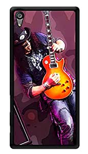 """Humor Gang Slash Electric Guitar Music Printed Designer Mobile Back Cover For """"Sony Xperia Z5"""" (3D, Glossy, Premium Quality Snap On Case)"""
