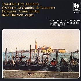 Antonio Vivaldi, A. Marcello, D. Cimarosa, V. Bellini, concertos for Oboe & Orchestra