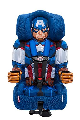 KidsEmbrace Disney Combination Toddler Harness Booster Car Seat, Marvel Captain America