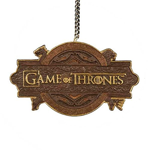 Game of thrones logo christmas tree ornament holiday for Game of thrones garden ornaments