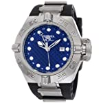 Stainless Steel Subaqua GMT 500M Diver Blue Dial Black Strap