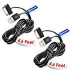 2 x pcs T-Power 30-pin ( 6.6 ft Long Cable ) for Samsung Galaxy Tab Note 7.0 7.7 8.9 10.1 Galaxy Tab 7