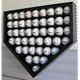 46 MLB Baseball Display Case Holder Wall Mounted Cabinet, 98% UV Protection, Lock, Black... by DisplayGifts