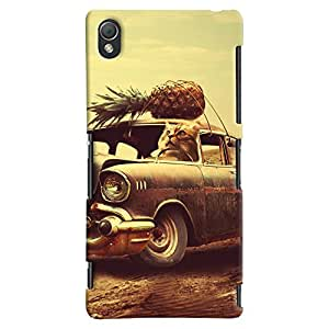 ColourCrust Sony Xperia Z3 Compact / Mini Mobile Phone Back Cover With Vintage Car - Durable Matte Finish Hard Plastic Slim Case