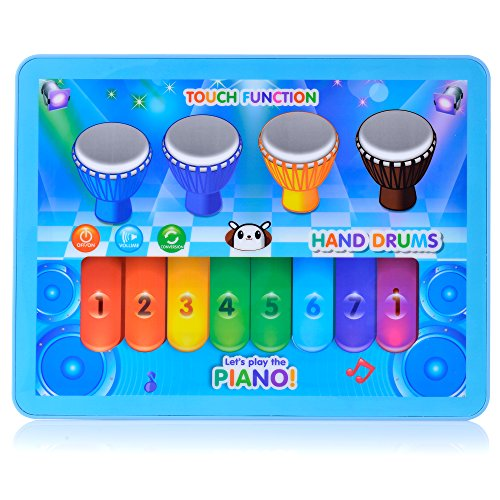 Kids-Music-Keyboard-Piano-Toy-Music-Phrases-and-Fun-Sounds-Blue