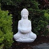 Buddha Deko-Figur Aus Stein Sitzend 30cm Skulptur Mit Teelichthalter Für