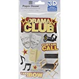Paper House STDM-0057E 3-Pack 3D Cardstock Stickers, Drama Club