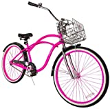 Hello Kitty Women's Cruiser Bike with 17-Inch Frame, Pink/Black, 26-Inch