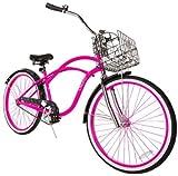 Hello Kitty Women's Cruiser Bike with 17-Inch Frame, Pink/Black, 26-Inch